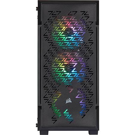 Corsair iCUE 220T RGB Airflow Temperli Cam Siyah MidTower Kasa PSU Yok