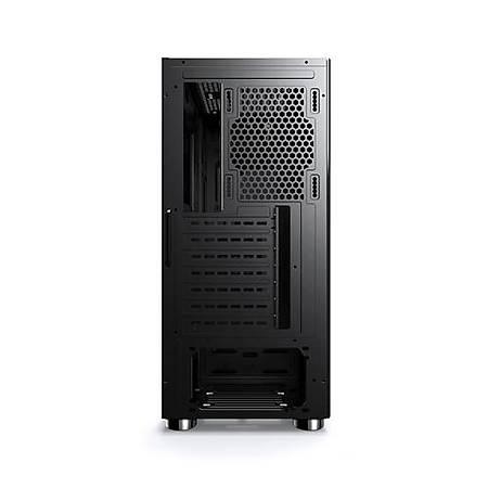 Power Boost VK-2052S RGB Tempered Pencereli Mid-Tower Siyah Kasa PSU Yok