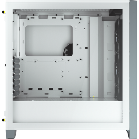 Corsair iCUE 4000X RGB Temperli Cam Beyaz ATX MidTower Kasa PSU Yok