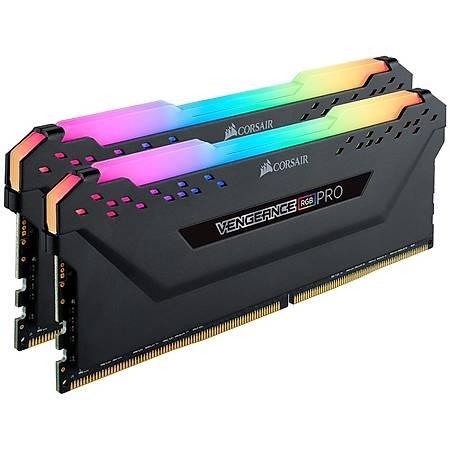 Corsair Vengeance RGB Pro 16GB (2x8GB) DDR4 3200MHz CL16 Siyah Dual Kit Ram
