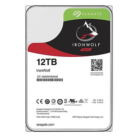 Seagate IronWolf Nas 3.5 12TB 7200Rpm 128MB Sata 3 ST12000VN0008