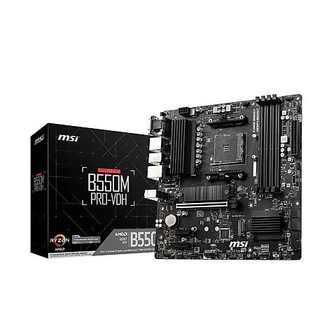 Powered By MSI B550M PRO-VDH Ryzen 7 5800X 32GB 1TB SSD 12GB Radeon RX 6700 XT MAG CORELIQUID 240R Sývý Soðutma 750W PSU