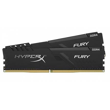 Kingston HyperX Fury 16GB (2x8GB) DDR4 3200MHz CL17 Soðutuculu Dual Kit Siyah Ram
