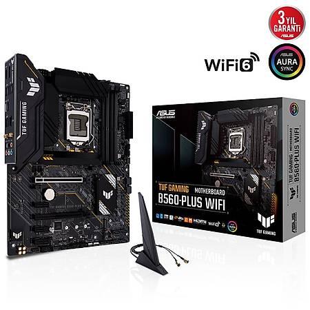 ASUS TUF GAMING B560-PLUS DDR4 5000MHZ (OC) HDMI DP TYPE-C M.2 USB3.2 AURA RGB Wi-Fi ATX 1200p