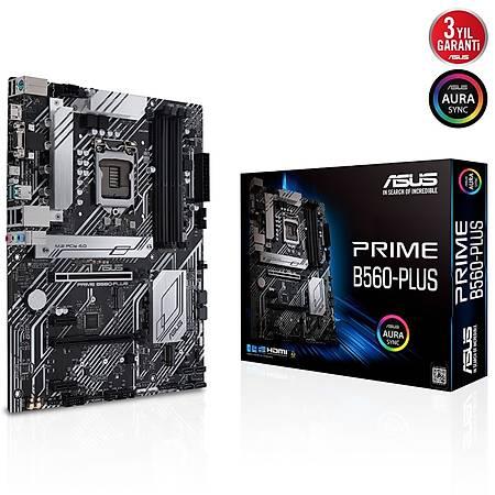 ASUS PRIME B560-PLUS DDR4 4600MHz VGA HDMI DP 2xM.2 USB3.2 AURA RGB ATX 1200p