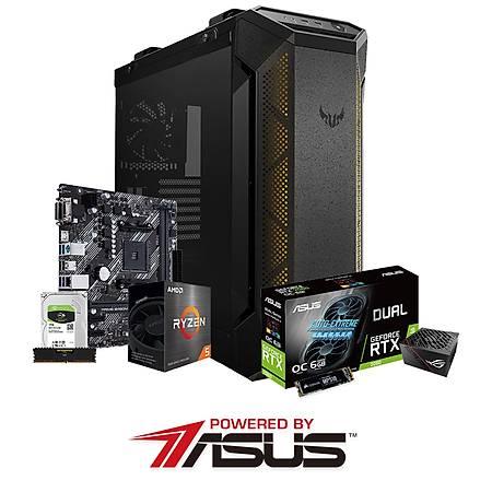 Powered By ASUS B450M-K II Ryzen 5 5600X 16GB 240GB SSD 1TB HDD 6GB GeForce RTX2060 650W PSU