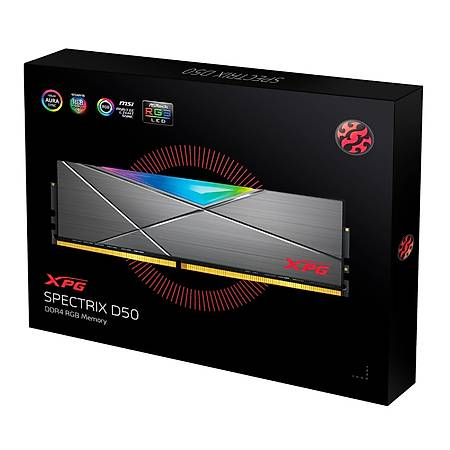 XPG Spectrix D50 RGB 8GB DDR4 3200MHz CL16 Soðutuculu Beyaz Ram
