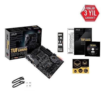 ASUS TUF GAMING X570-PLUS DDR4 4400Mhz(OC) RGB M.2 HDMI DP ATX AM4