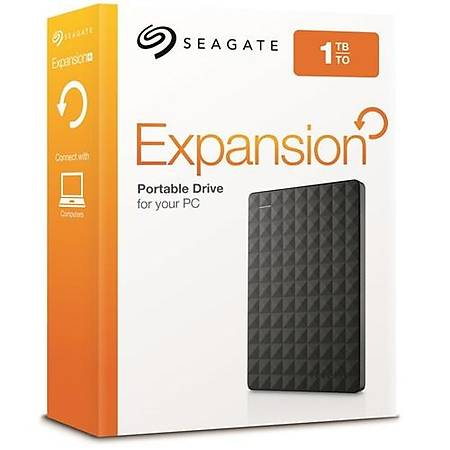Seagate 2.5 1TB USB 3.0 Siyah Taşınabilir Disk STEA1000400