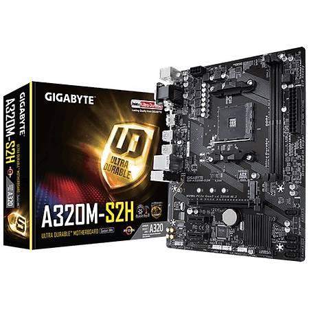 GIGABYTE A320M-S2H DDR4 3200Mhz (OC) VGA DVI HDMI M.2 mATX AM4