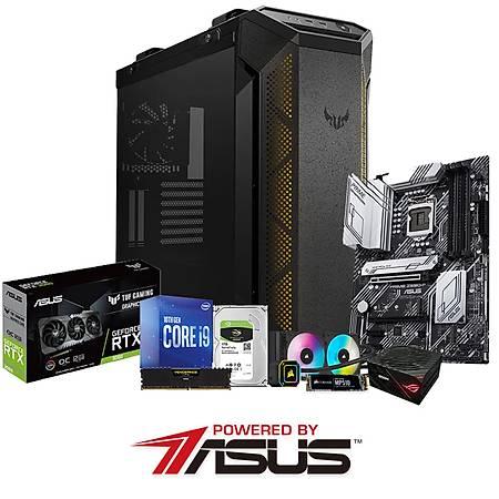 Powered By ASUS Z590-P i9-10850K 32GB 240GB SSD 1TB HDD 12GB GeForce RTX3060 H100I Sývý Soðutma 850W PSU
