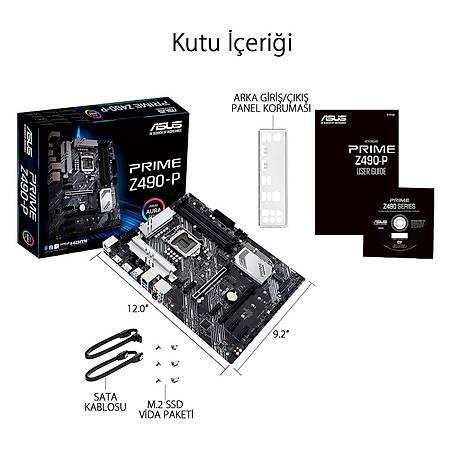 ASUS PRIME Z490-P DDR4 4600MHz (OC) HDMI DP RGB ATX 1200p