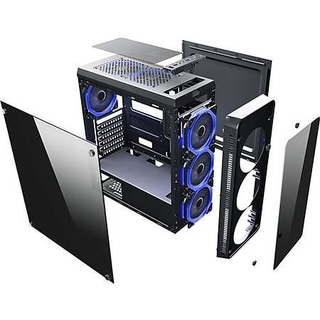 Power Boost VK-G3904S RGB USB 3.0 Akrilik Yan Panel Mid Tower Kasa PSU Yok