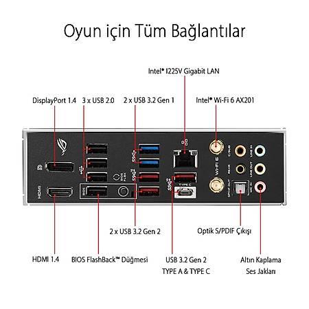 ASUS ROG STRIX Z490-E GAMING DDR4 4600MHz (OC) HDMI DP TYPE-C M.2 RGB USB 3.2 ATX Wi-Fi 1200p