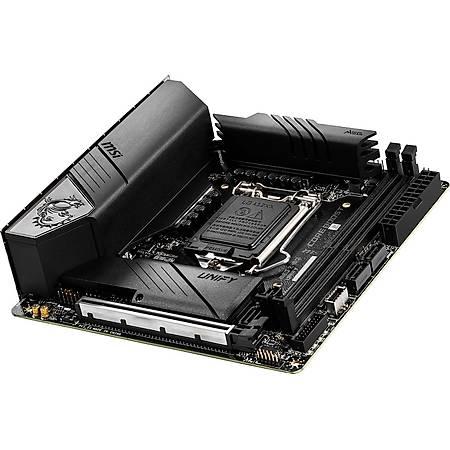 MSI MEG Z490I UNIFY DDR4 4800MHz (OC) PCI-E Gen 4 M.2 USB 3.2 1x 2.5G LAN Wi-Fi 6 Mini ITX 1200p