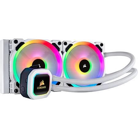 Corsair H100i RGB Platinum 240mm Intel ve AMD Uyumlu Sývý Soðutma Sistemi Beyaz