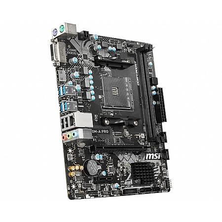MSI A320M-A PRO DDR4 3200MHz (OC) DVI HDMI USB3.2 mATX AM4