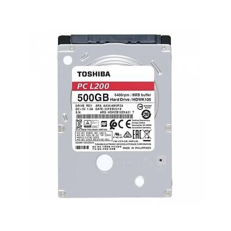Toshiba L200 2.5 500GB 5400Rpm 8Mb Sata 6.0 Gbit/s HDWK105UZSVA