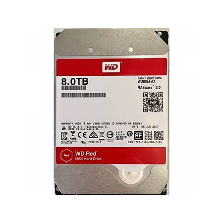 WD Red Nas 3.5 8TB 5400Rpm 256Mb Sata 3 WD80EFAX