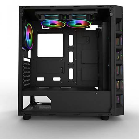 PowerBoost X59RGB Tempered Cam ATX Kasa PSU Yok