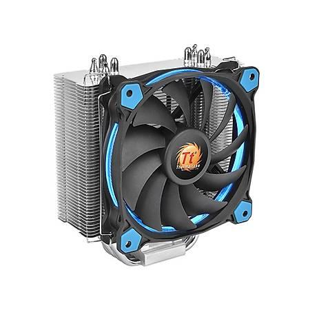 Thermaltake Riing Silent Mavi Led Fan Intel ve AMD Uyumlu Ýþlemci Soðutucusu