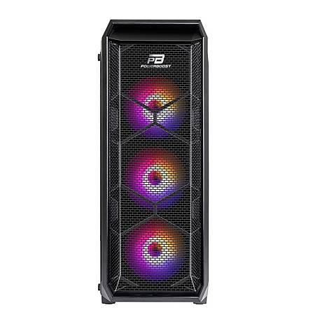 PowerBoost VK-P15B 600W 80+ Mesh Panel Siyah ATX Kasa