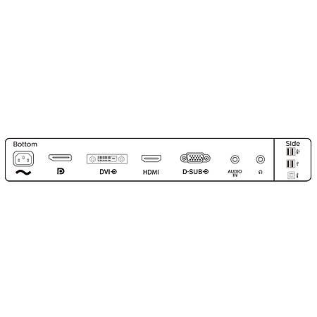 Philips 23.8 241B8QJEB-00 IPS 1920x1080 VGA DP DVI HDMI 5ms Siyah