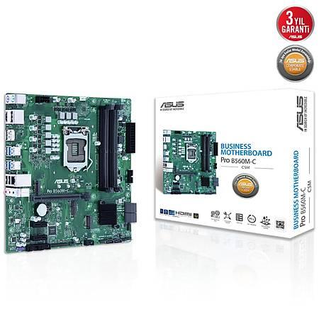 ASUS PRO B560M-C CSM DDR4 4600MHz HDMI DP M.2 USB3.2 Micro-ATX 1200p