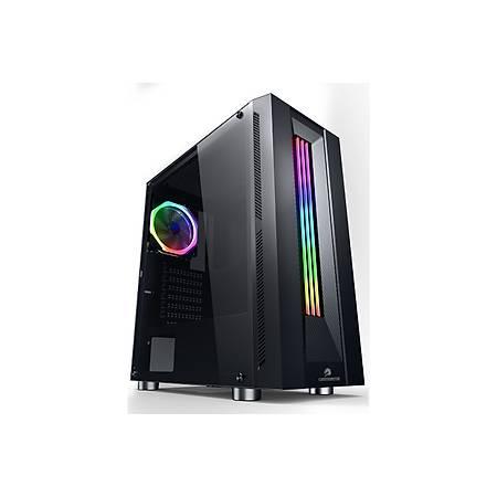 GameBooster GB-G3601B RGB Tempered Glass USB 3.0 Mid Tower Kasa PSU Yok