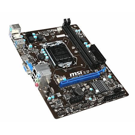MSI H81M-E33 DDR3 1600MHz VGA HDMI USB 3.0 mATX 1150p