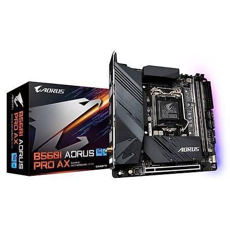 GIGABYTE B560I AORUS PRO AX DDR 4600MHz (OC) HDMI DP M.2 USB3.2 Wi-Fi RGB Mini-ITX 1200p