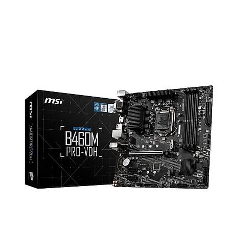 MSI B460M PRO-VDH DDR4 2933MHz VGA DVI HDMI USB 3.1 Wi-Fi mATX 1200p