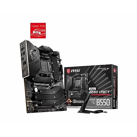 MSI MEG B550 UNIFY DDR4 5100MHz (OC) HDMI 4xM.2 USB3.2 Wi-Fi ATX AM4