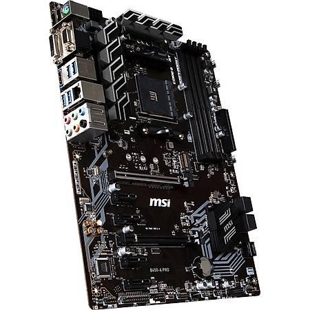 MSI B450-A PRO MAX DDR4 4133MHz (OC) VGA DVI HDMI GLAN SATA 6GB/S M.2 USB3.1 ATX AM4