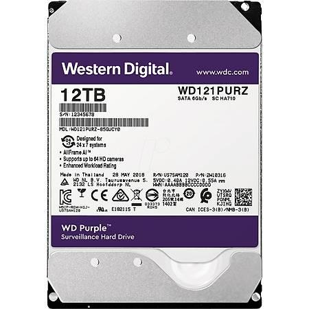 WD Purple 3.5 12TB 7200Rpm 256Mb Sata 3 7/24 WD121PURZ
