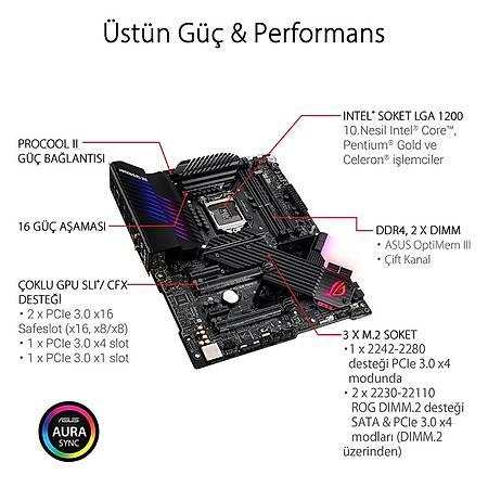ASUS ROG MAXIMUS XII APEX Z490 DDR4 48000MHz (OC) HDMI TYPE-C M.2 RGB USB 3.2 ATX Wi-Fi 1200p