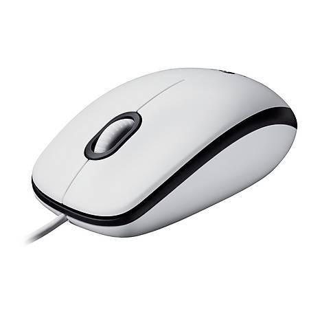 Logitech M100 Kablolu Beyaz USB Mouse 910-005004