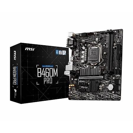 MSI B460M-PRO DDR4 2933MHz VGA DVI HDMI USB 3.1 mATX 1200p