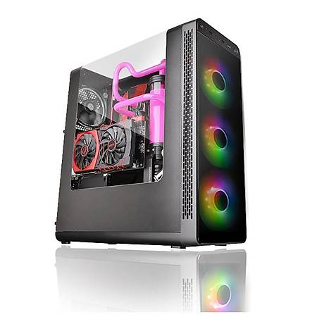 Thermaltake View 27 600W 80+ ARGB 3x120mm Fan Panoramik Pencereli Mid Tower Gaming Kasa