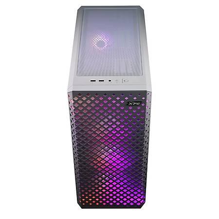 XPG Defender Pro Temperli Cam Mesh ARGB Beyaz e-ATX MidTower Kasa PSU Yok