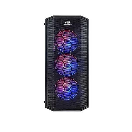 PowerBoost X58RGB 650W 80+ Mesh Panel ATX Kasa