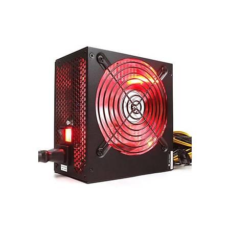 High Power 700W 80+ Kýrmýzý Led Fanlý Power Supply