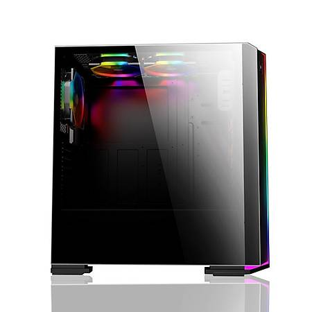 Power Boost VK-G3906S Rainbow RGB Fan Strip Siyah Kasa PSU Yok