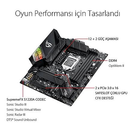 ASUS ROG STRIX Z490M-G GAMING DDR4 4600MHz (OC) HDMI DP TYPE-C M.2 RGB USB 3.2 mATX Wi-Fi 1200p