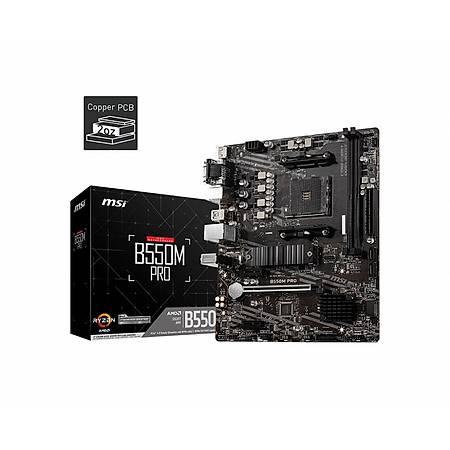 MSI B550M PRO DDR4 4600MHz (OC) HDMI DVI VGA M.2 USB3.2 mATX AM4