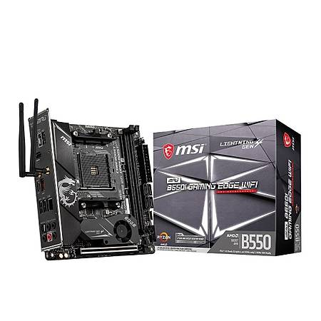 MSI MPG B550I GAMING EDGE DDR4 4600MHz (OC) HDMI M.2 USB 3.2 Wi-Fi Mini ITX AM4
