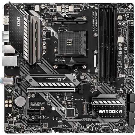 MSI MAG B550M BAZOOKA DDR4 4400MHz (OC) HDMI DP M.2 USB 3.2 mATX AM4