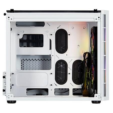 Corsair Crystal 280X RGB Temperli Cam Beyaz mATX Kasa PSU Yok