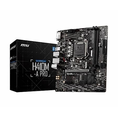 MSI H410M-A PRO DDR4 2933MHz DVI HDMI USB 3.1 mATX 1200p