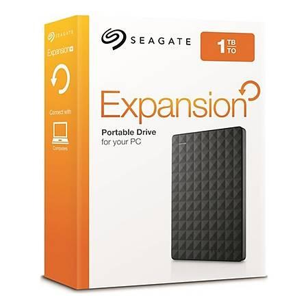Seagate 2.5 1TB USB 3.0 Siyah Taþýnabilir Disk STEA1000400
